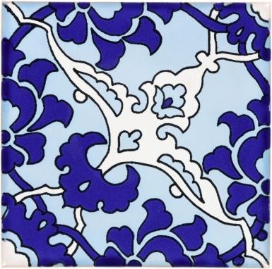 Quarter Bedonia Turquoise & Blue Terra Nova Mediterraneo Ceramic Tile