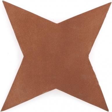 "9.5"" x 9.5"" Four Point Star - Tierra High Fired Floor Tile"