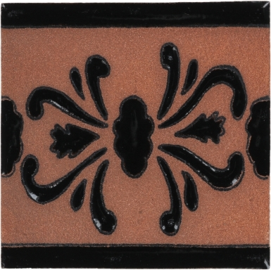 Azalea Black Tierra High Fired Handcrafted Tile