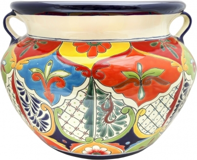 Mexican Talavera Large Round - Planter 1
