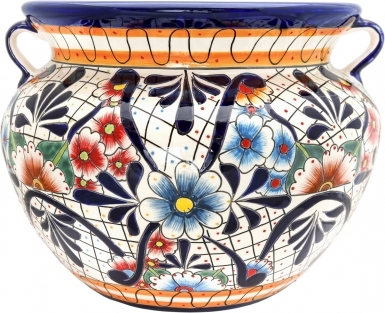 Mexican Talavera Large Round - Planter 3