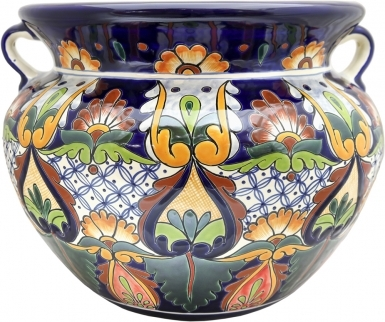Mexican Talavera Large Round - Planter 8