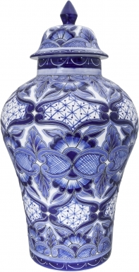 Tula Blue & White - Small Ceramic Ginger Jar