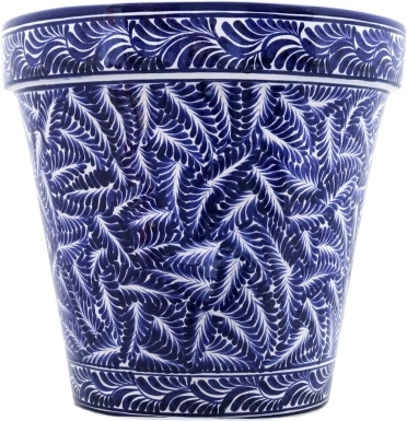 Mexican Talavera Medium Round Planter - Loreto