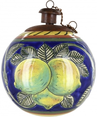 Limoncello Ceramic Table Torch with Copper Top