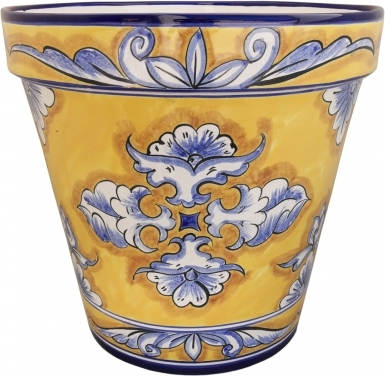 Mexican Talavera Medium Round Planter - Villahermosa 1