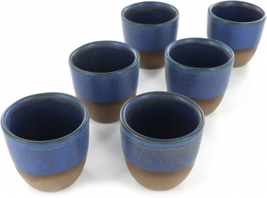 Blue - Handcrafted Ceramic Tea Cups Set of 6
