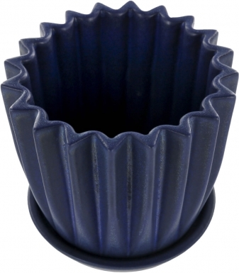 Cenote Blue Matte - Small Ceramic Planter
