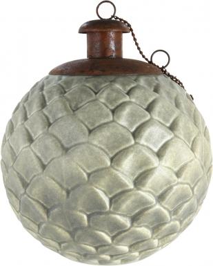 Artichoke Ceramic Table Torch with Copper Top