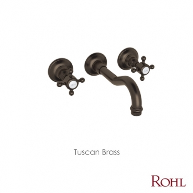 ROHL Country Bath Acqui Wall Mount Lavatory Faucet