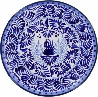 Puebla Traditional Ceramic Talavera Plate N. 17