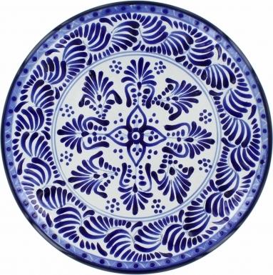 Puebla Traditional Ceramic Talavera Plate N. 21