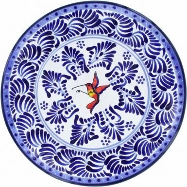 Puebla Traditional Ceramic Talavera Plate N. 16