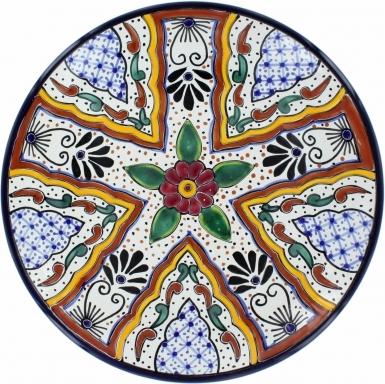 Puebla Traditional Ceramic Talavera Plate N. 7