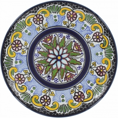 Puebla Traditional Ceramic Talavera Plate N. 13
