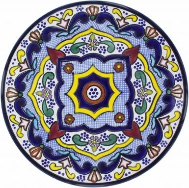 Puebla Traditional Ceramic Talavera Plate N. 10