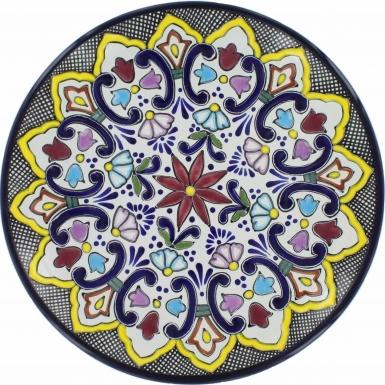 Puebla Traditional Ceramic Talavera Plate N. 5