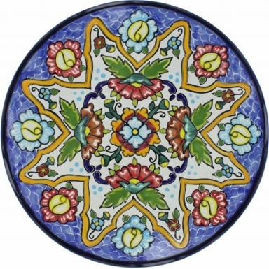 Puebla Traditional Ceramic Talavera Plate N. 11