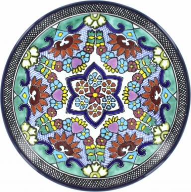 Puebla Traditional Ceramic Talavera Plate N. 14