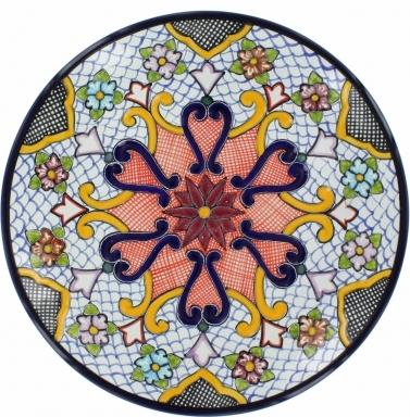 Puebla Traditional Ceramic Talavera Plate N. 9