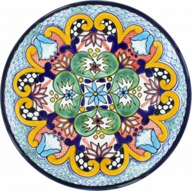 Puebla Traditional Ceramic Talavera Plate N. 15
