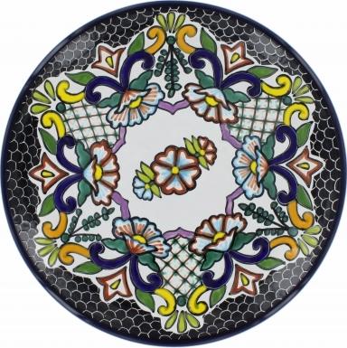 Puebla Traditional Ceramic Talavera Plate N. 4