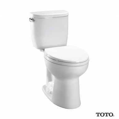 TOTO Entrada™ Close Coupled Elongated Toilet 1.28GPF and Seat