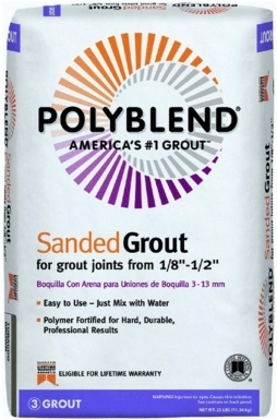 Bright White Polyblend Sanded Grout