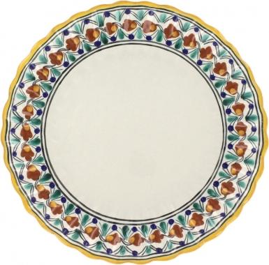 Puebla Classic Ceramic Talavera Scalloped Plate N. 1