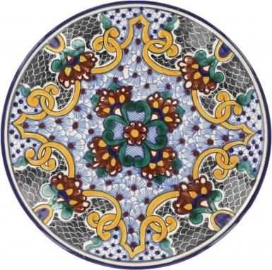 Puebla Classic Ceramic Talavera Plate N. 3