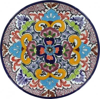 Puebla Classic Ceramic Talavera Plate N. 7