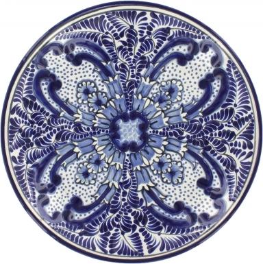 Puebla Classic Ceramic Talavera Plate N. 12