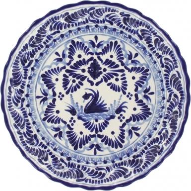 Puebla Classic Ceramic Talavera Scalloped Plate N. 4