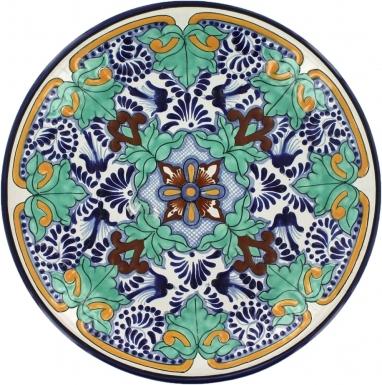 Puebla Classic Ceramic Talavera Plate N. 16