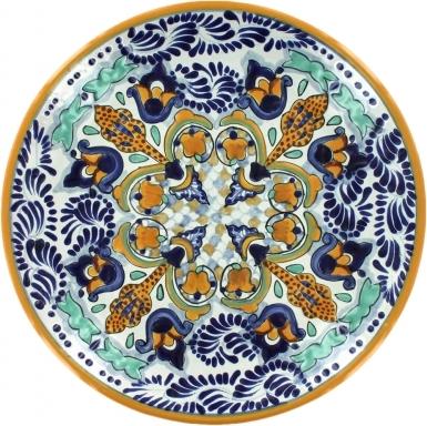 Puebla Classic Ceramic Talavera Plate N. 18