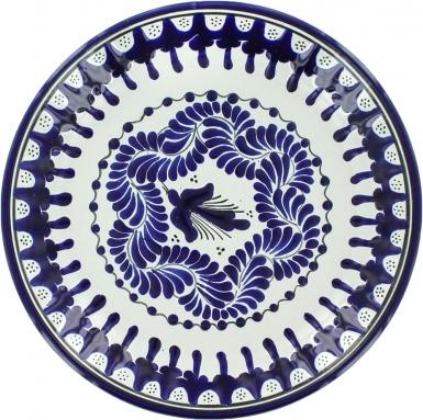 Puebla Classic Ceramic Talavera Plate N. 19