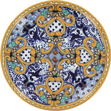 Puebla Classic Ceramic Talavera Plate N. 20