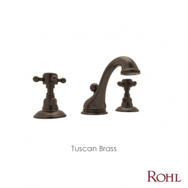 Tuscan Brass - ROHL Country Bath Viaggio Widespread Lavatory Faucet