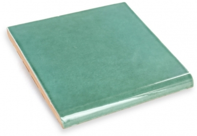 Surface Bullnose: Light Green - Terra Nova Mediterraneo Ceramic Tile