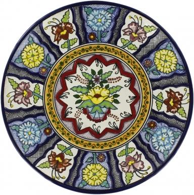 Puebla Traditional Ceramic Talavera Plate N. 8