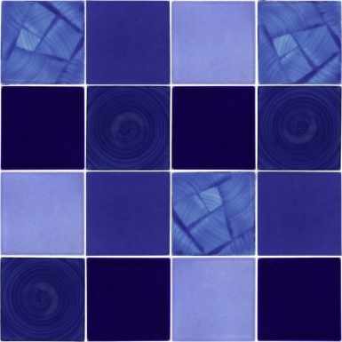 "Set of 16 Individual Tiles 4.25"" x 4.25"" - Talavera Mexican Tile Set"