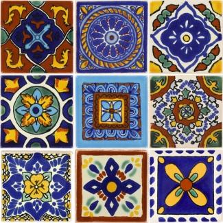 Mexican Talavera Ceramic Tiles 2x2