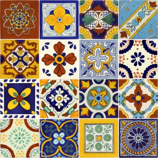Mexican Talavera Ceramic Tiles 6x6