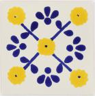 Yellow Marguerite Talavera Mexican Tile