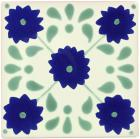 Green Marguerite Talavera Mexican Tile