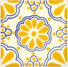 Yellow Lace Talavera Mexican Tile