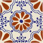 Terra Cotta & Blue Lace Talavera Mexican Tile