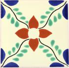 Ivy and Flower Talavera Mexican Tile