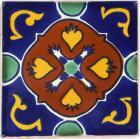 3x3 Laja - Talavera Mexican Tile