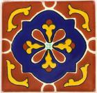 3x3 Libro Terra Cotta - Talavera Mexican Tile